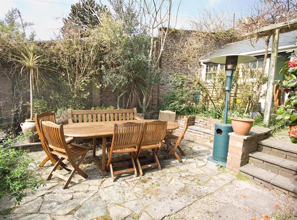 Garden at Clarence Street 36 in Dartmouth, Devon