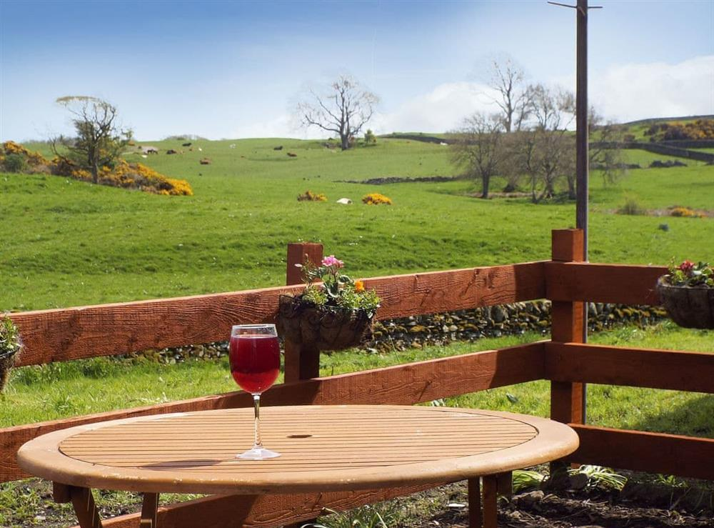 Far-reaching view from the patio at The Bothy,
