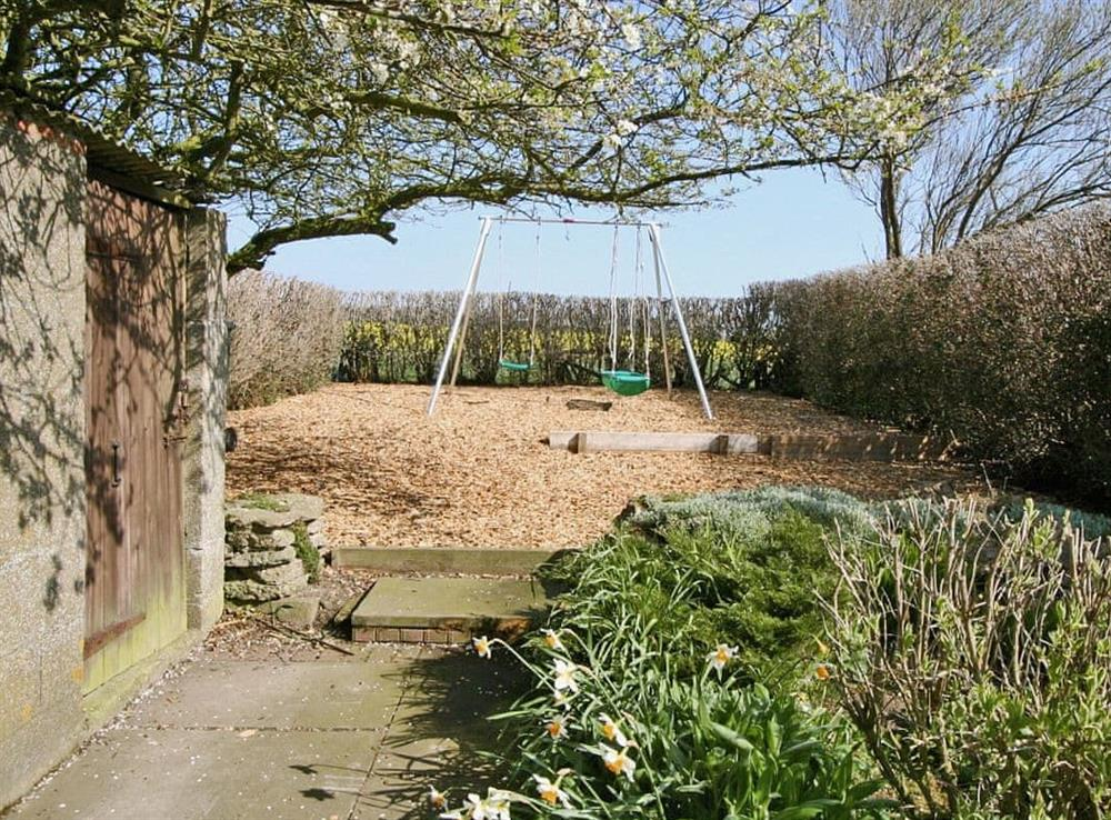 Garden at Cliff Cottage in Bempton, Flamborough Head, East Yorks., North Humberside