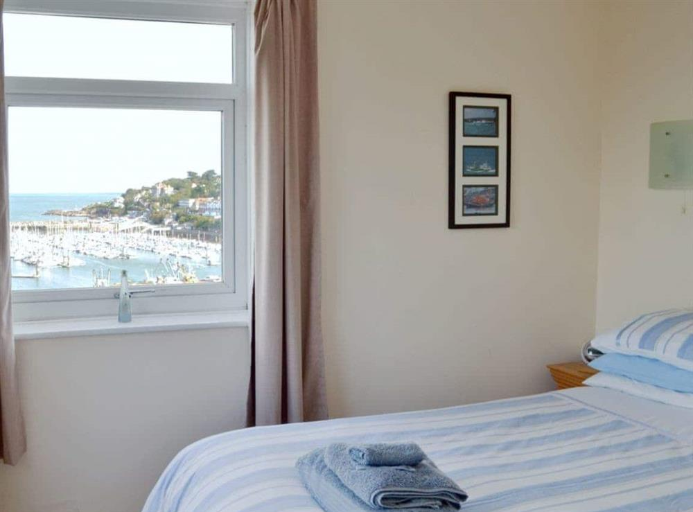 Cosy double bedroom with sea views at Cliff Cottage in Brixham, Devon