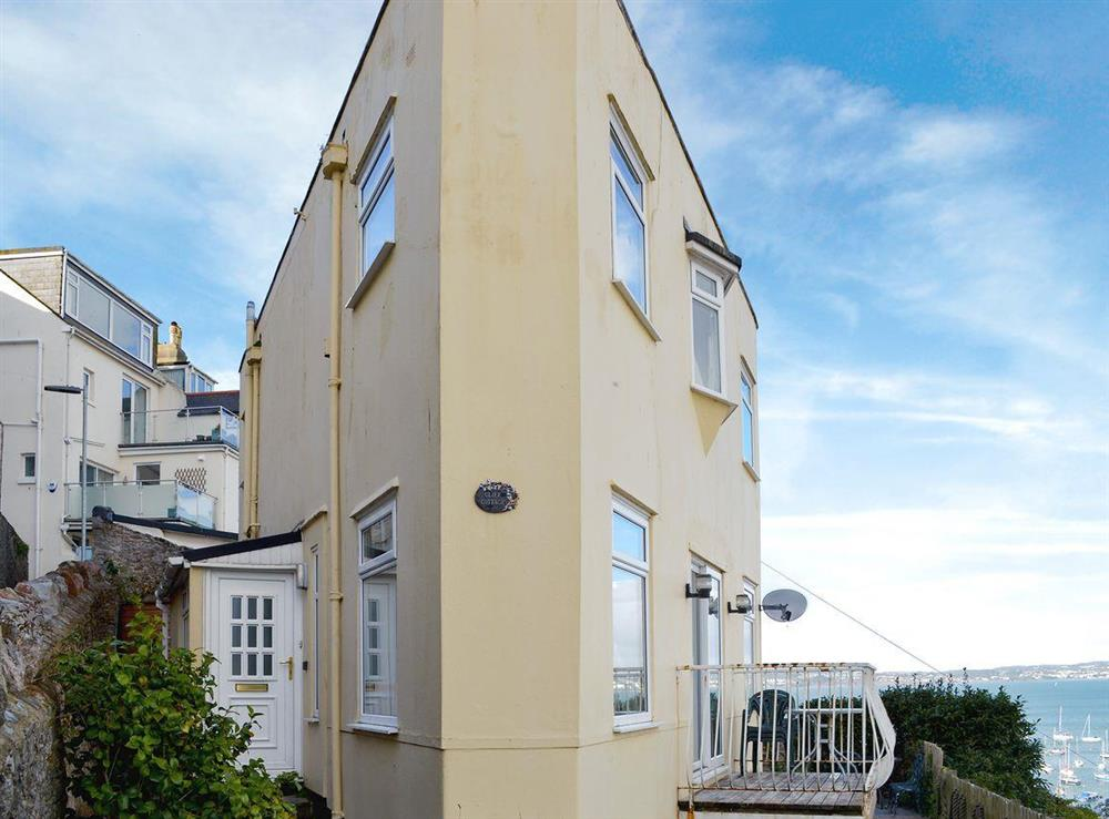 Quirky triangular shape property with spectacular views at Cliff Cottage in Brixham, Devon