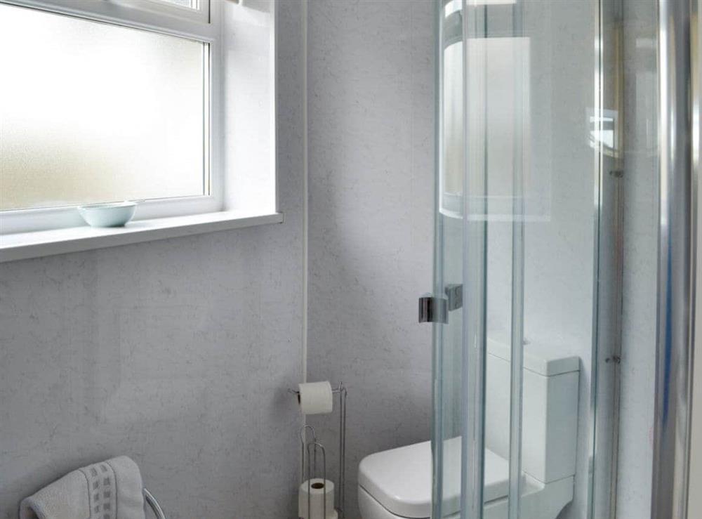 Shower room at Cliff Cottage in Brixham, Devon