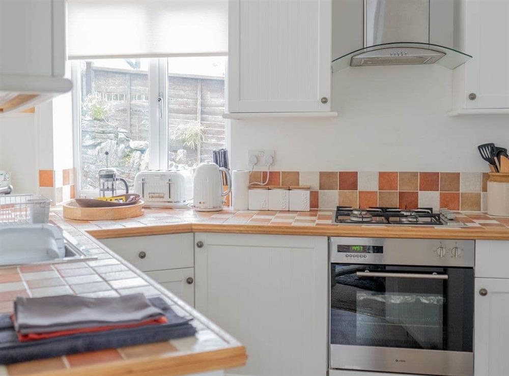 Well equipped kitchen at Cliff Cottage in Brixham, Devon