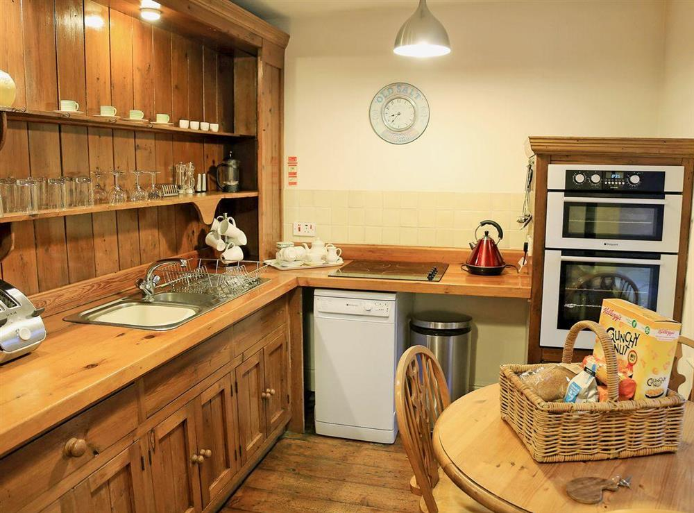 Kitchen/diner at Clock Tower Cottage in Bow Creek, Nr Totnes, South Devon., Great Britain