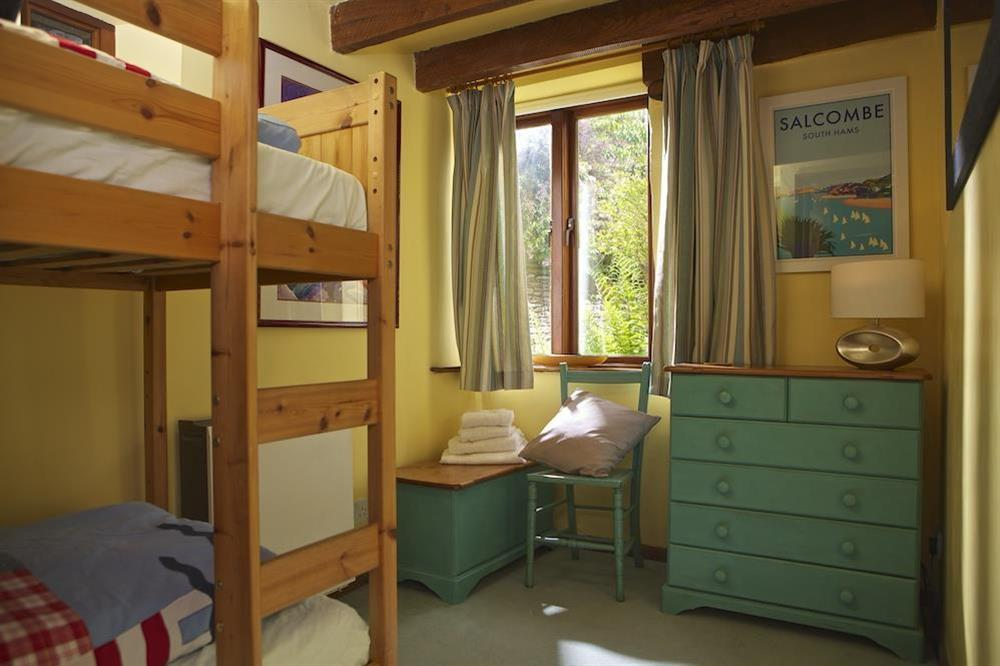 Children's bedroom with bunk beds at Clover in Blackawton, Dartmouth