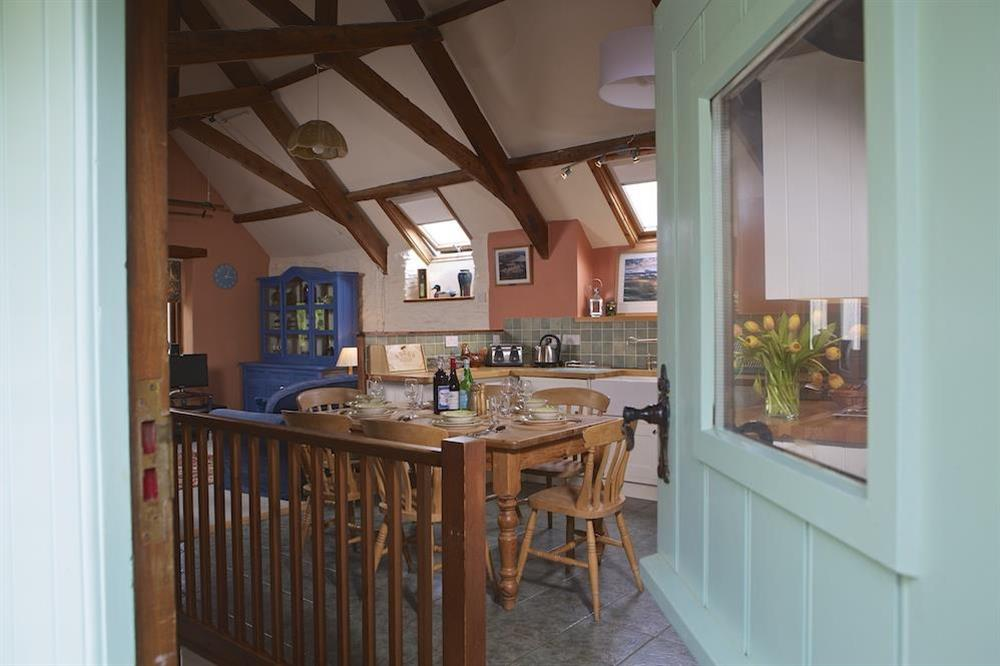 Kitchen with beamed ceiling at Clover in Blackawton, Dartmouth