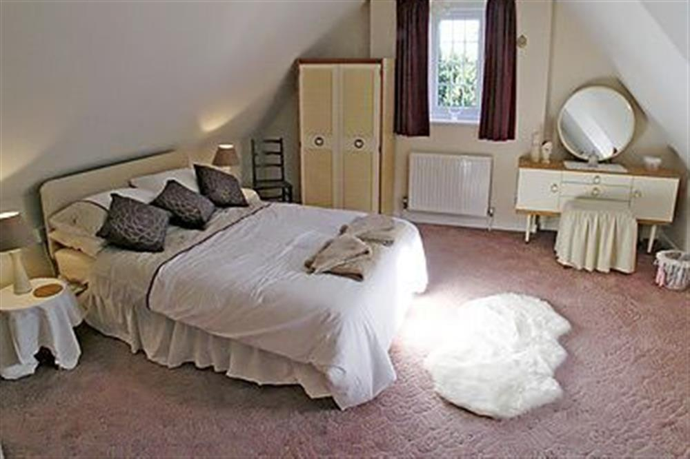 Double bedroom at Coachmans Cottage in Bacton, Norwich, Norfolk., Great Britain