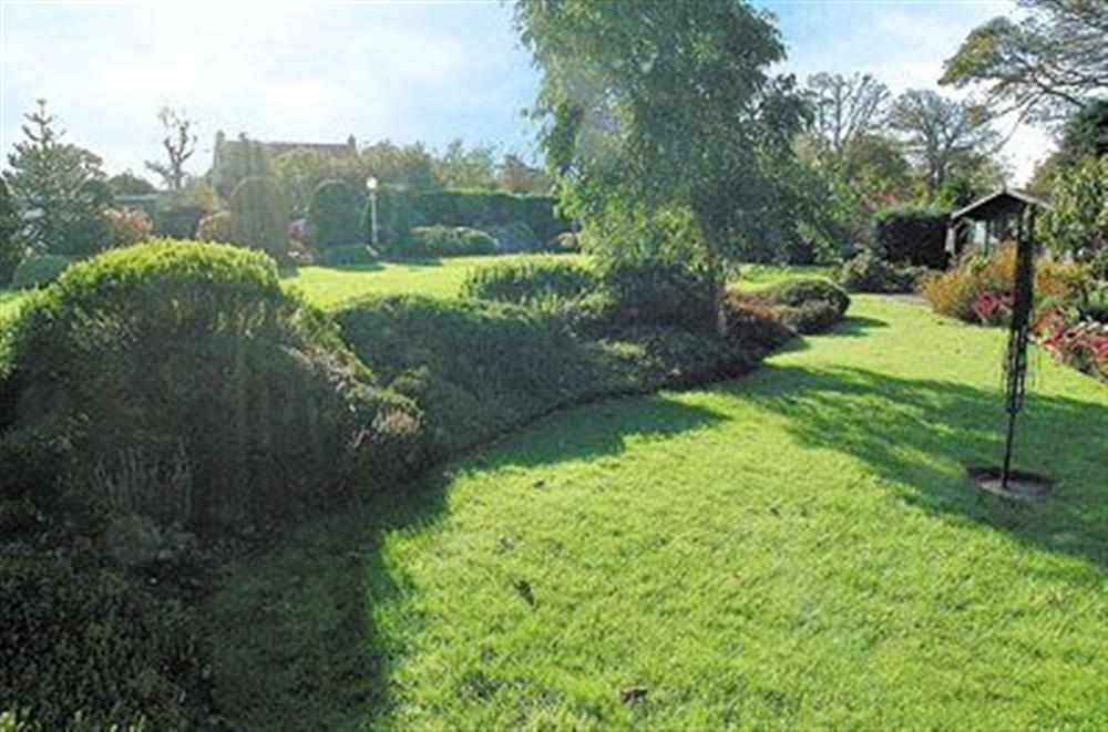 Garden at Coachmans Cottage in Bacton, Norwich, Norfolk., Great Britain
