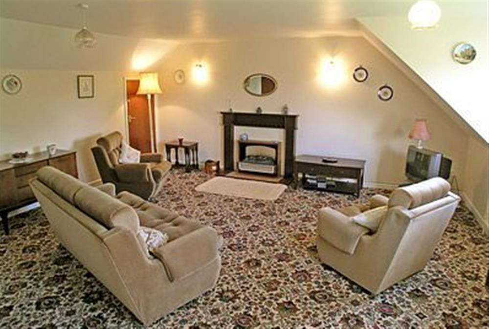 Living room at Coachmans Cottage in Bacton, Norwich, Norfolk., Great Britain