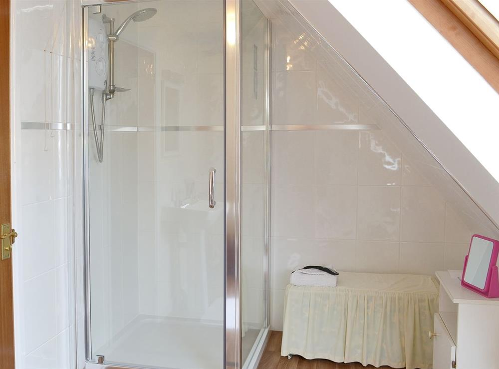 Shower room at Coachmans Cottage in Bacton, Norwich, Norfolk., Great Britain