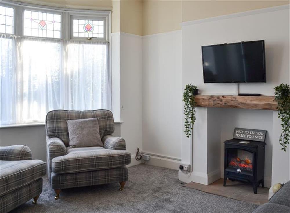 Living room at Coasters Retreat in Bridlington, North Humberside