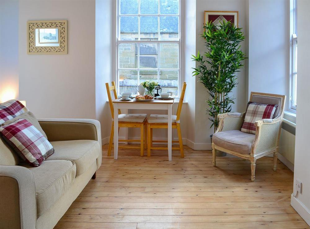 Lovely and light living area with views to two aspects at Cobblestone Corner in Kelso, The Scottish Borders, Roxburghshire