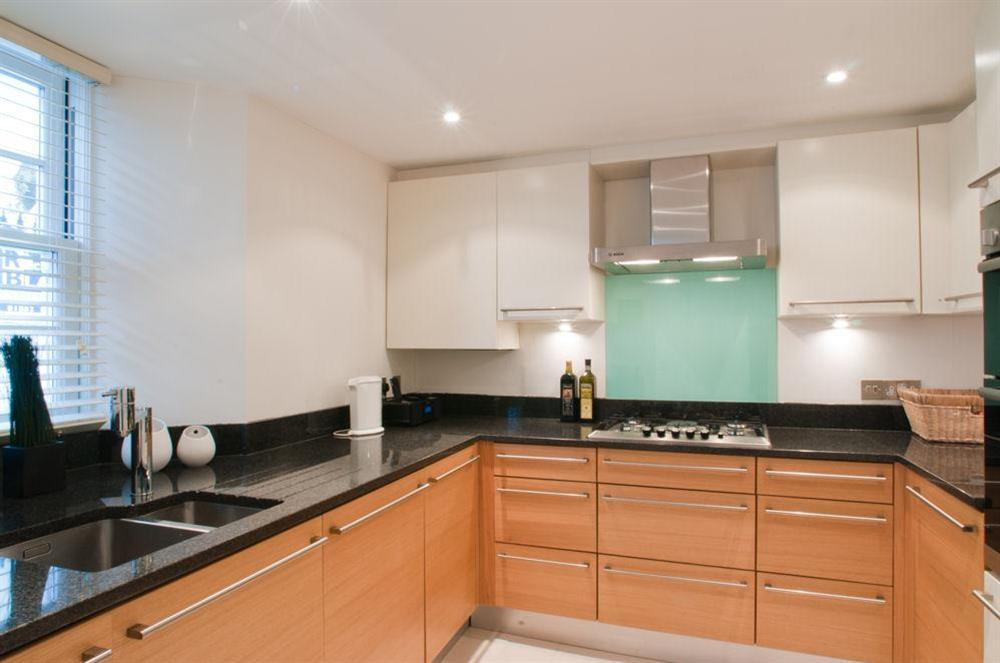 Beautifully presented and well equipped kitchen at Cobbs Cottage in 20 Crowthers Hill, Dartmouth