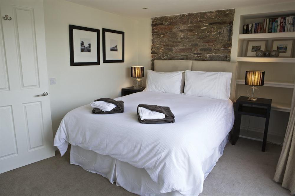 Master bedroom on 1st floor at Cobbs Cottage in 20 Crowthers Hill, Dartmouth