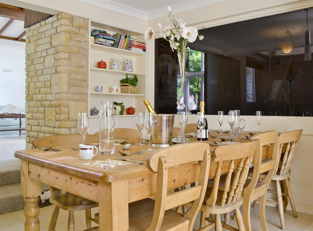 Open-aspect dining room at Cobden House in Lakenheath, near Brandon, Suffolk