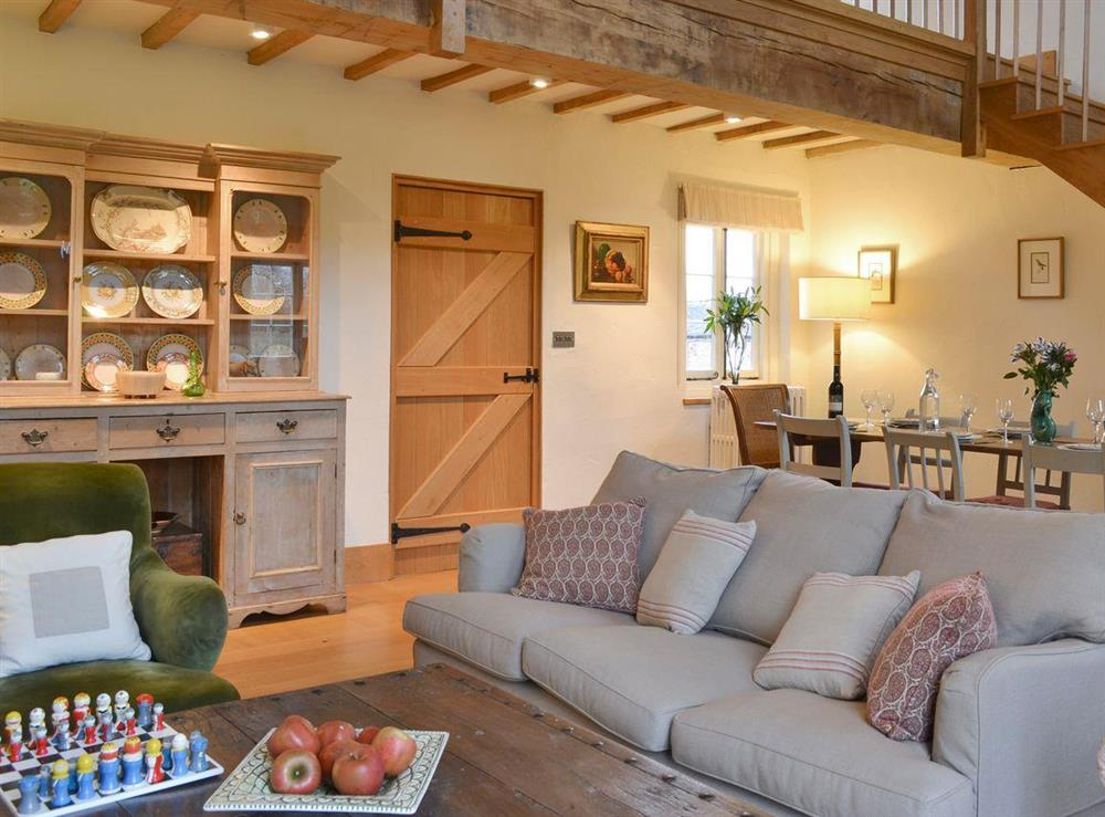 Spacious living and dining room at The Dairy,