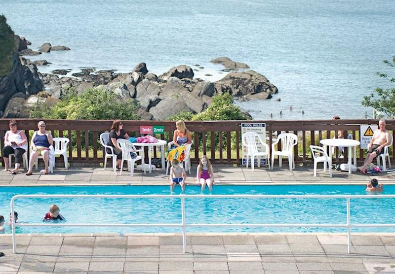 Outdoor heated swimming pool at Combe Martin Beach in , Combe Martin