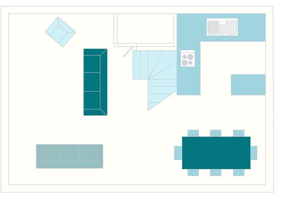 Coombery Loft Floor Plan - First Floor at Coombery Loft in Bow Creek, Nr Totnes, South Devon., Great Britain