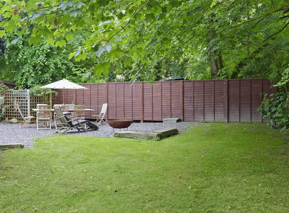 Large lawned garden with patio at Cornant in Llechryd, near Cardigan, Dyfed