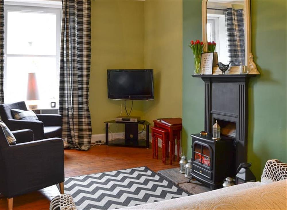 Living room at Corrie House in Hawick, The Scottish Borders, Roxburghshire