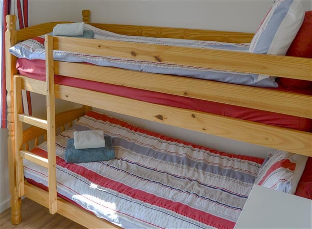 Bunk bedroom at Cottage By The Sea in Bacton, near North Walsham, Norfolk