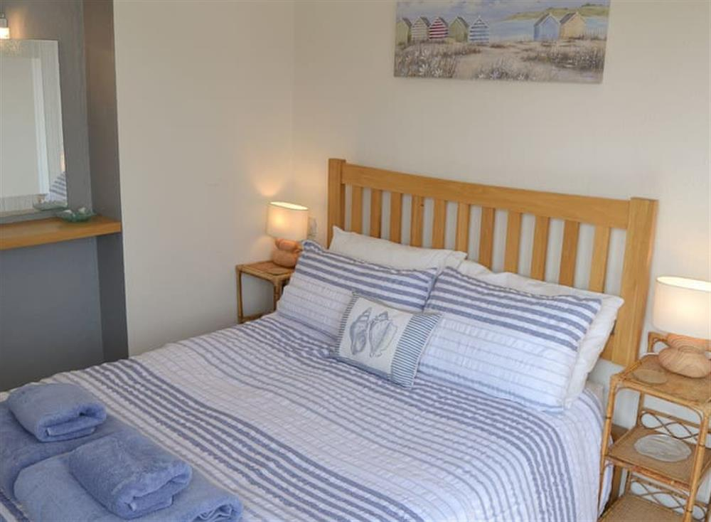 Comfortable double bedroom at Cottage By The Sea in Bacton, near North Walsham, Norfolk