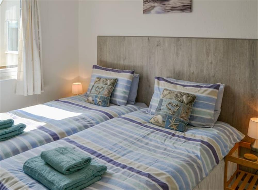 Comfy twin bedroom at Cottage By The Sea in Bacton, near North Walsham, Norfolk