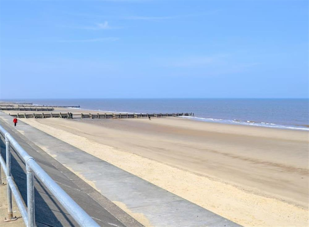 Nearby beach at Cottage By The Sea in Bacton, near North Walsham, Norfolk