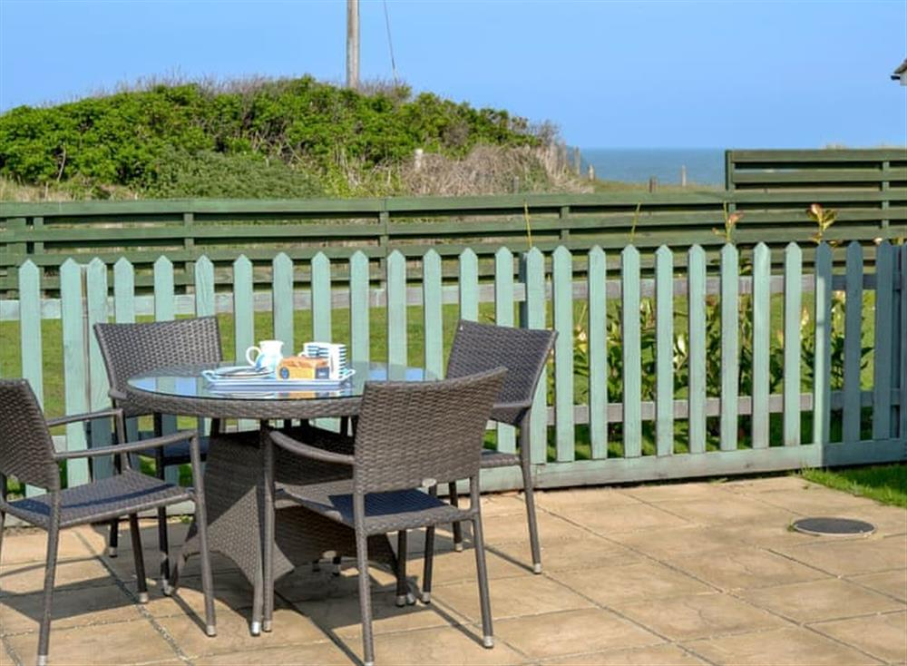 Relaxing sitting out area at Cottage By The Sea in Bacton, near North Walsham, Norfolk
