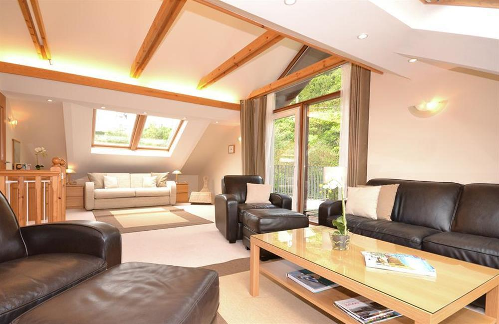 Another angle of the sitting room with patio doors to terrace at Cotterbury, Dartmouth