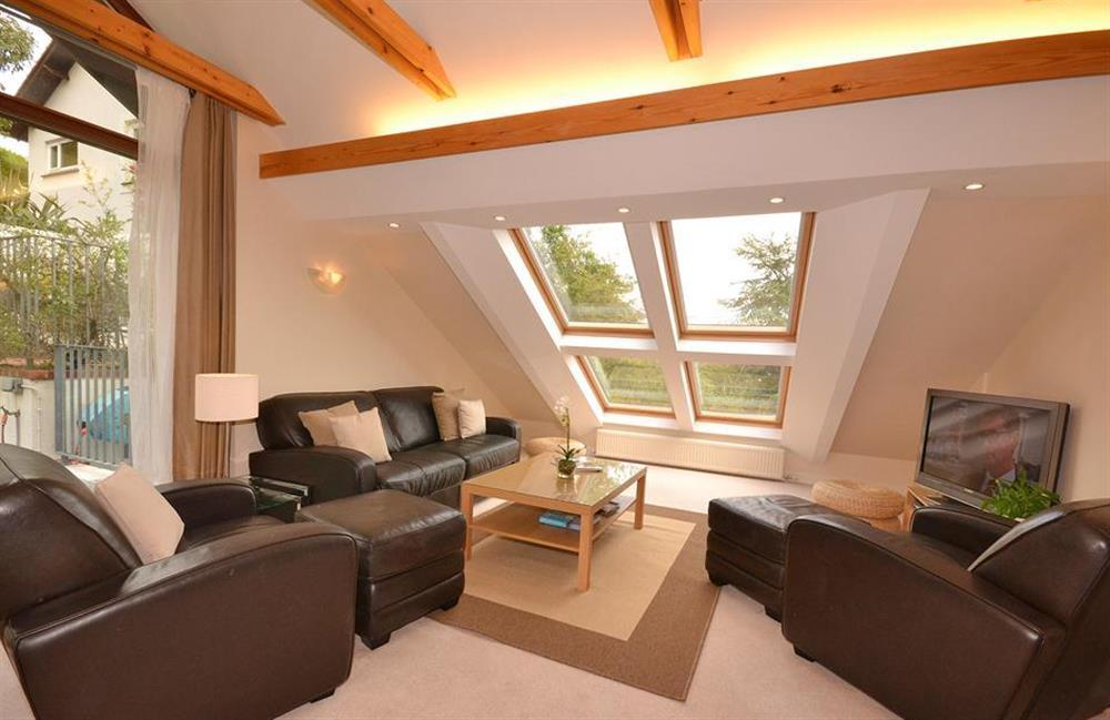 The spacious second floor sitting room at Cotterbury, Dartmouth