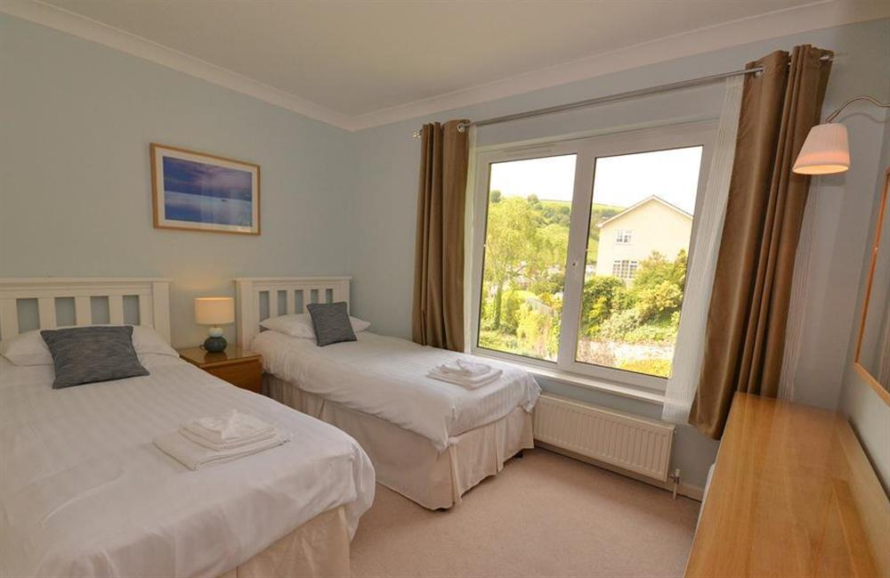 The twin bedroom at Cotterbury, Dartmouth