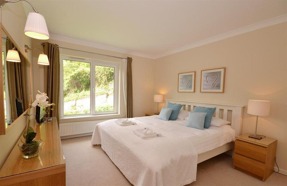 Very comfortable bedroom with super king size double bed at Cotterbury, Dartmouth