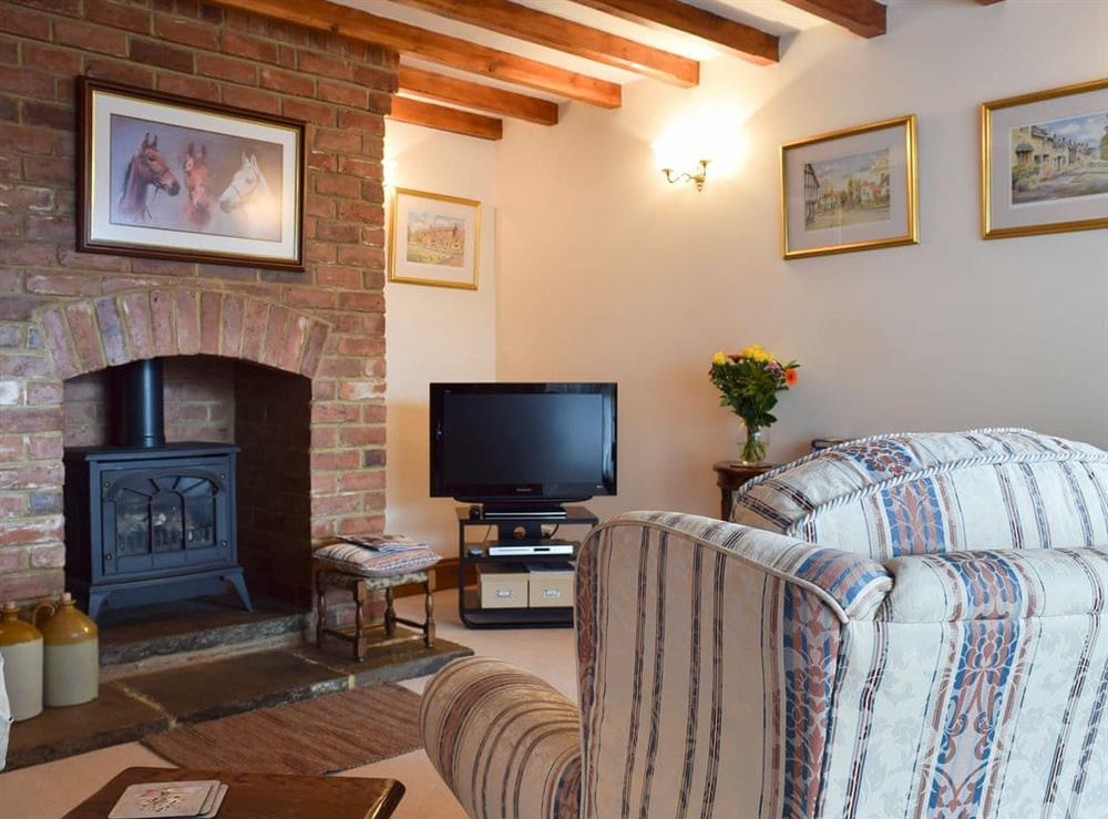 Living area at Lime Cottage,