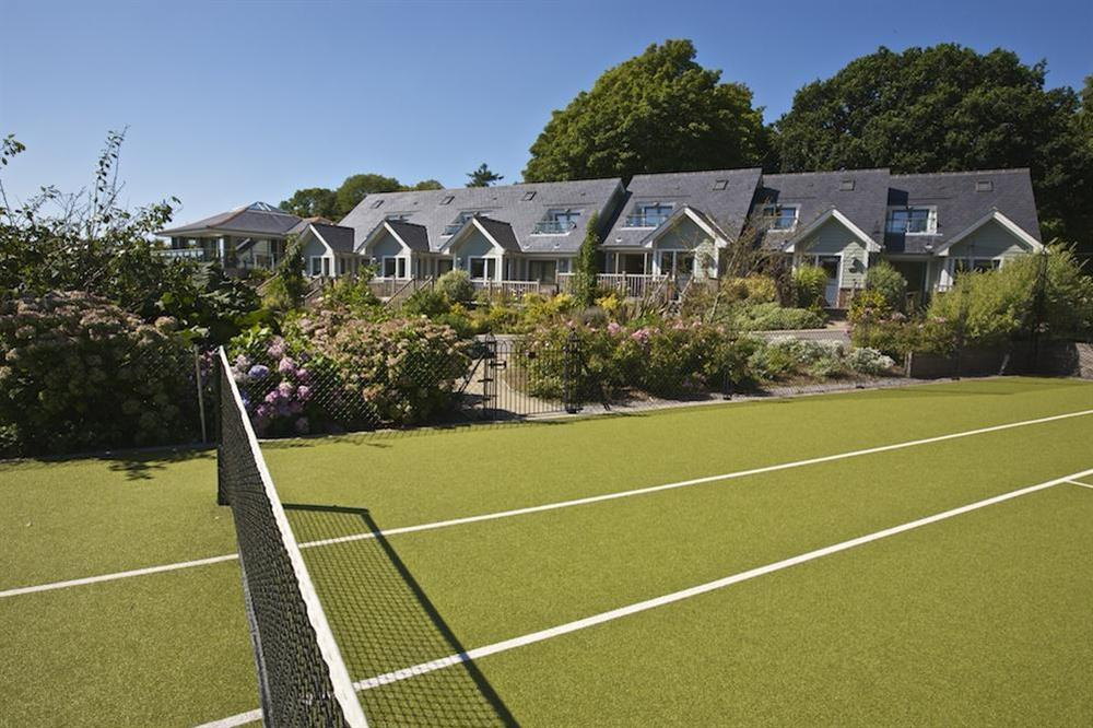 View of Court Cottages from Tennis Court at Court Cottages 1 in Hillfield, Dartmouth