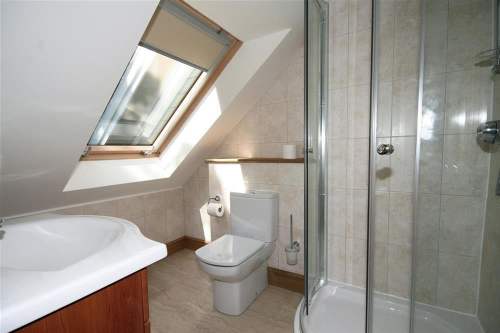 En suite Bathroom at Court Cottages 3 in Hillfield, Dartmouth
