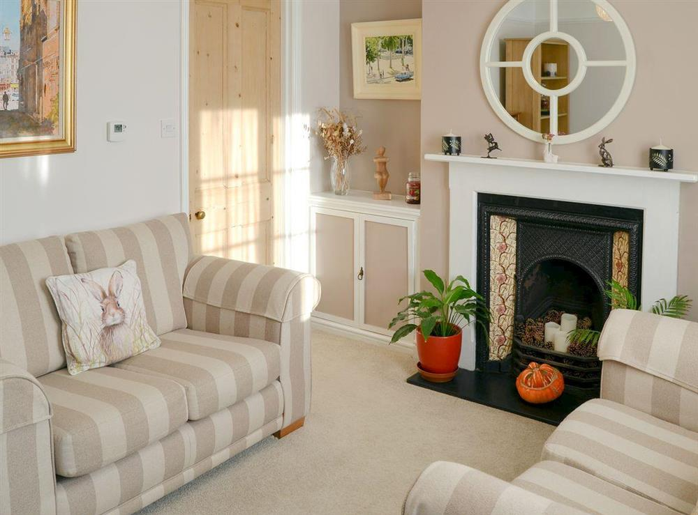 Comfortable living room at Courtyard Cottage in Framlingham, near Woodbridge, Suffolk