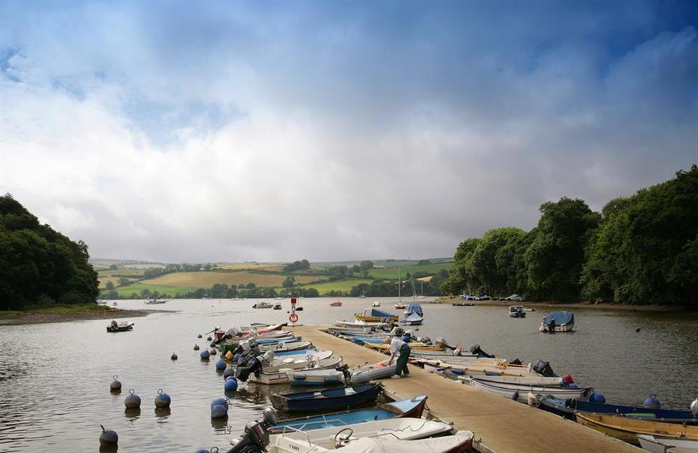 A view of the pontoon at Crab Cottage, Stoke Gabriel