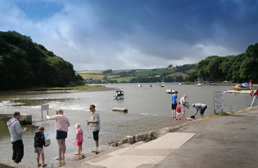 Crabbing from the causeway - a favourite past time in Stoke Gabriel at Crab Cottage, Stoke Gabriel