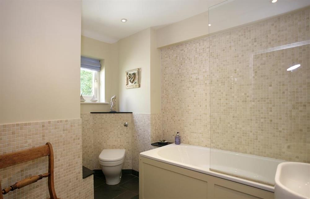 The modern family bathroom at Crab Cottage, Stoke Gabriel