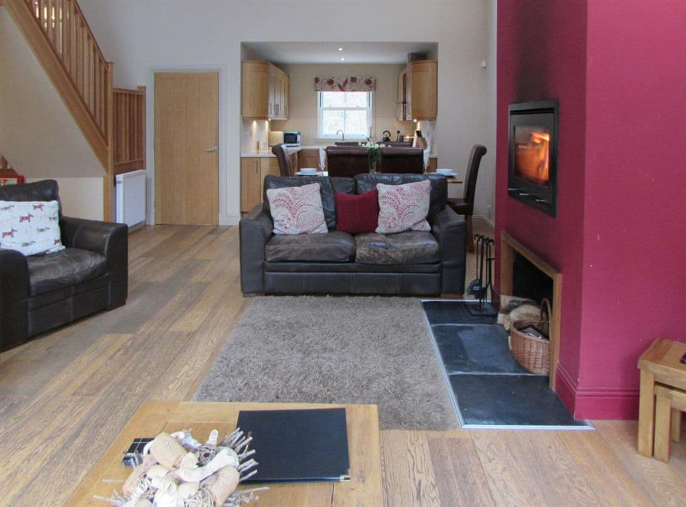 Living area at Pipers Cottage,