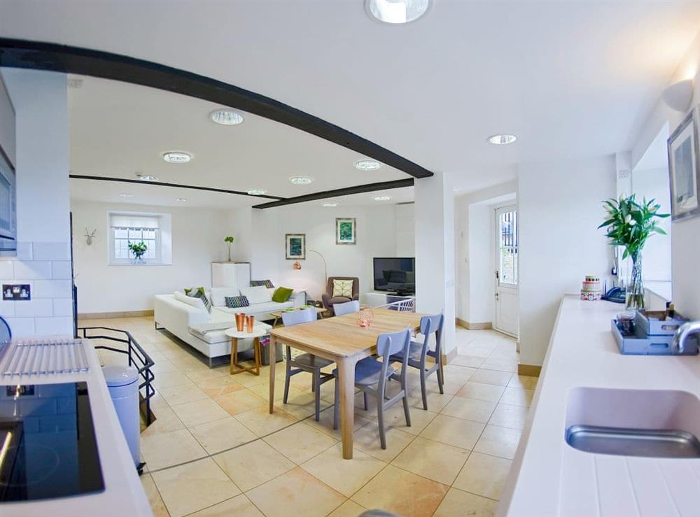Open plan living space at Lower Garden Suite at Craven House,
