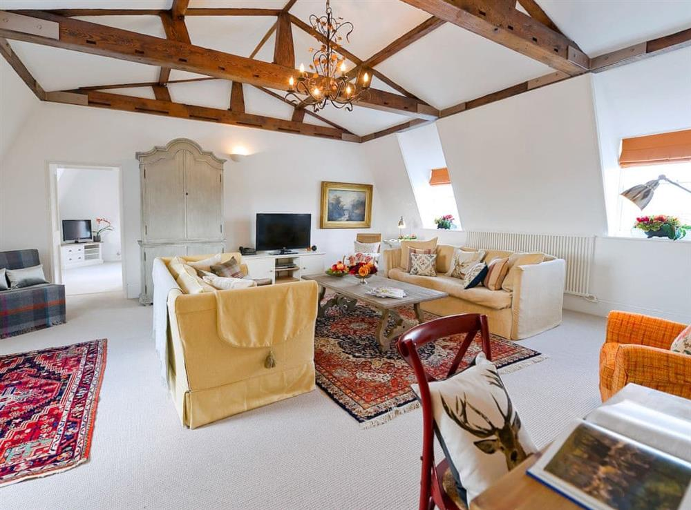 Living area at Park Suite at Craven House,
