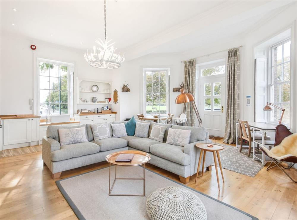 Living room at Upper Garden Suite at Craven House,