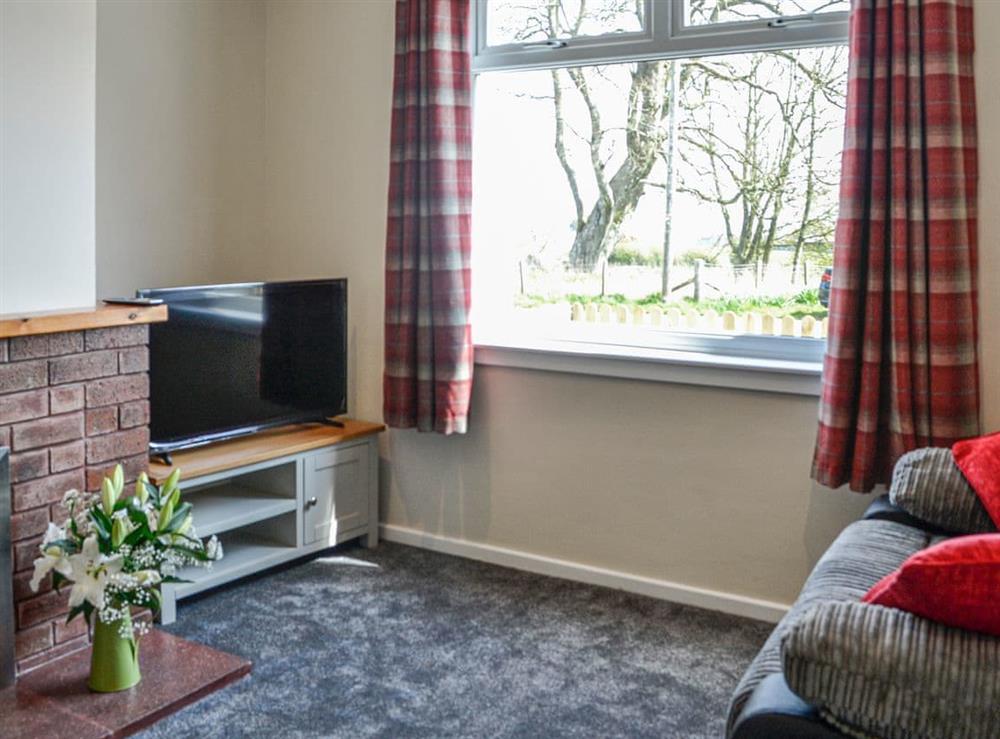 Living room at Crawfords Cottage in Kirkcudbright, Kirkcudbrightshire