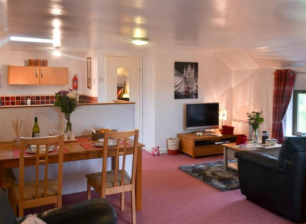 Spacious studio layout at Creeky Dingle in Erbistock, near Wrexham, Clwyd