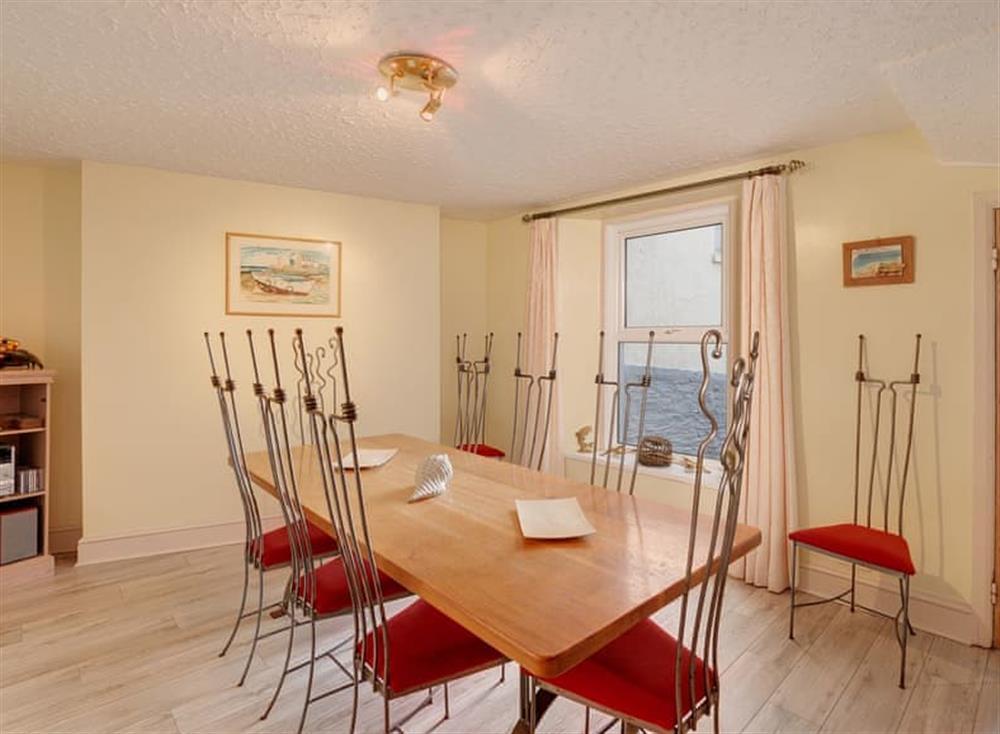 Dining room at Creels in Brixham, South Devon
