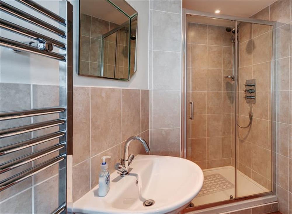 Shower room at Creels in Brixham, South Devon