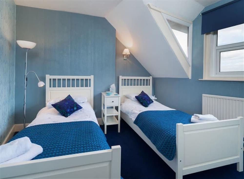 Twin bedroom at Creels in Brixham, South Devon