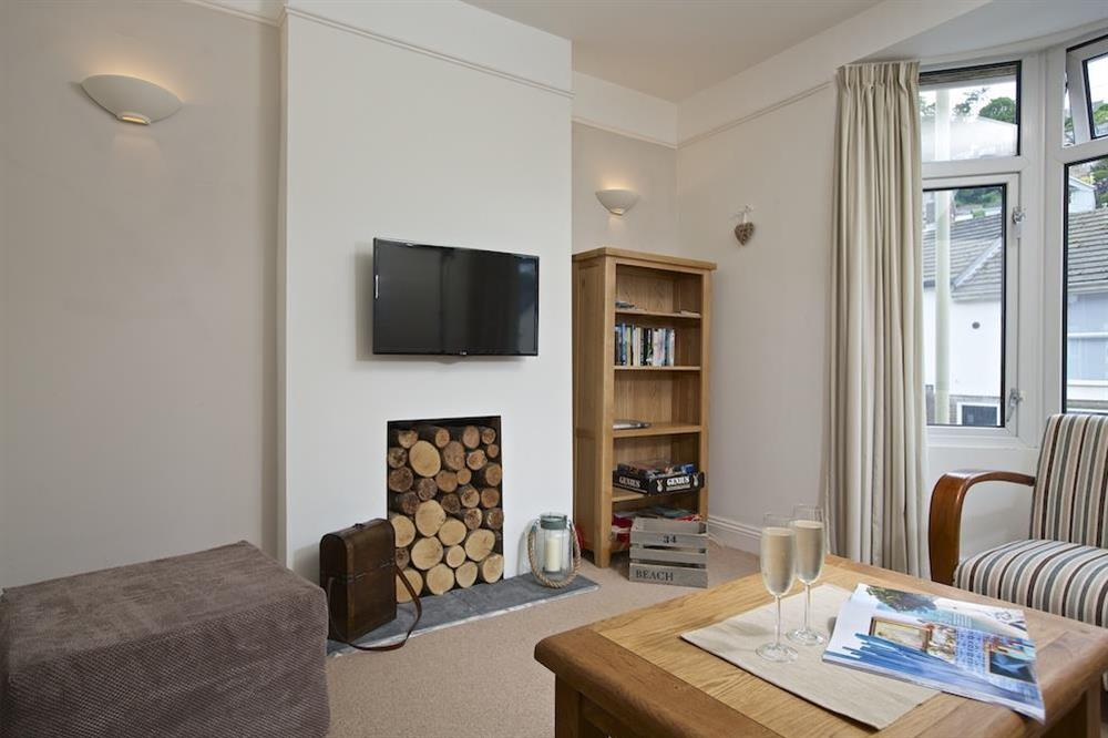 The lounge has a great flat screen television at Crew House in Dart Marina, Dartmouth